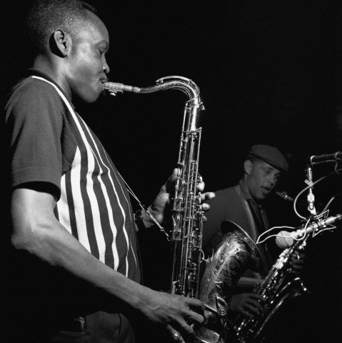 Saxophonists Sonny Stitt and Dexter Gordon
